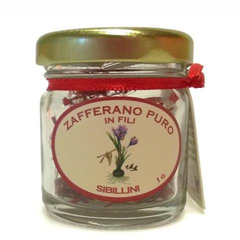 Zafferano puro in fili 1 gr su vasetto senza confezione