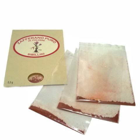 Zafferano puro in polvere 0.3 gr